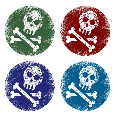 roger: grunge jolly roger signs