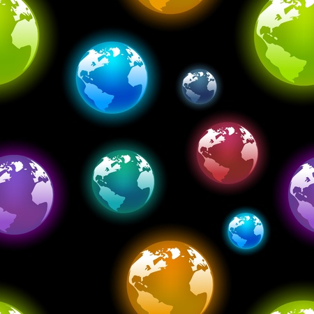 seamless wallpaper of earth planets  Vector