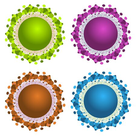 abstract spheres with trees Vector