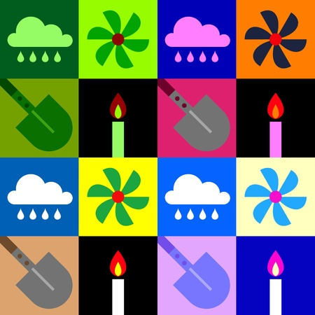 four Classical elements in simple symbols Vector