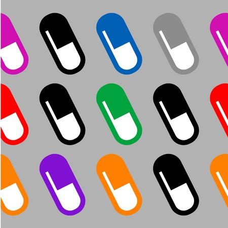 illustration of seamless wallpaper of pills Stock Vector - 12345222