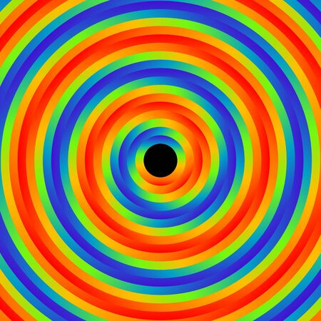background of psychedelic color circles illustration Vector