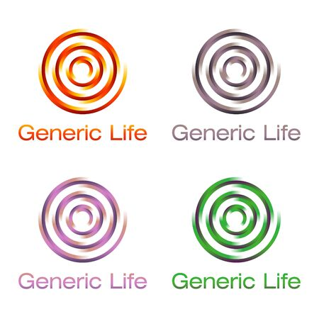 celebrate life: colorful spiral signs on white background Illustration