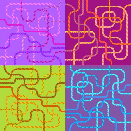 abstract navigation scheme of various colorful lines Vector