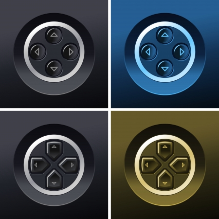 pause button: control and navigation control buttons  Illustration