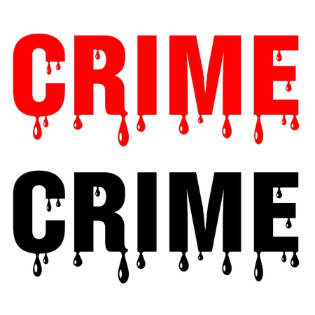 bloody crime word on white background Stock Vector - 16759174