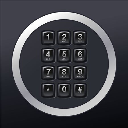 phone keypad, glossy telephone buttons Stock Vector - 16759180
