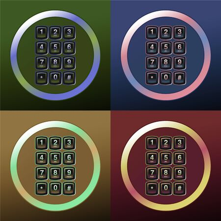 phone keypad, glossy telephone buttons Stock Vector - 16759186