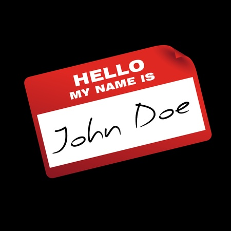name tag: hello my name is cardsticker