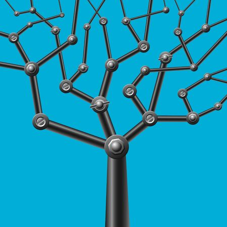 image of metal mechanical tree Stock Vector - 16759188