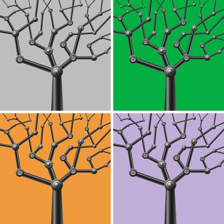 image of metal mechanical trees Stock Vector - 16759189
