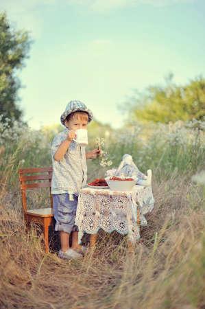 tea drinking   photo