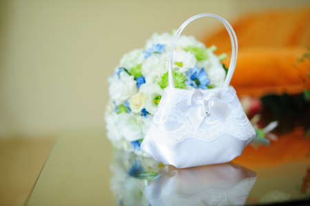 small white wedding bouquet photo