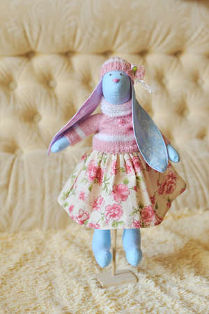 doll a tilde hare in a pink dress photo