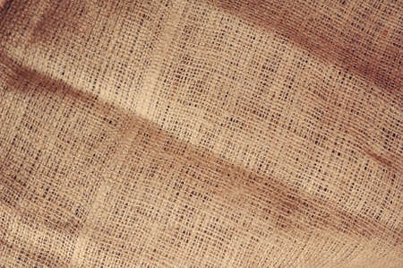 Natural linen striped uncolored textured sacking burlap background Stock Photo - 14953923
