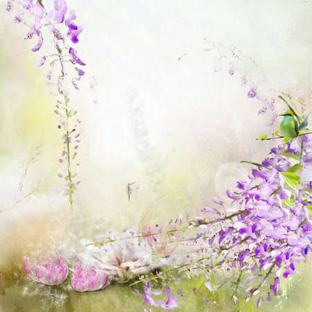 Beautiful spring background with campanula bouquet Stock fotó - 15042649
