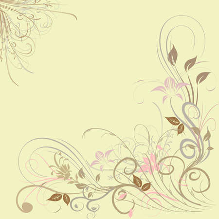 on a light background floral frame vector image  photo