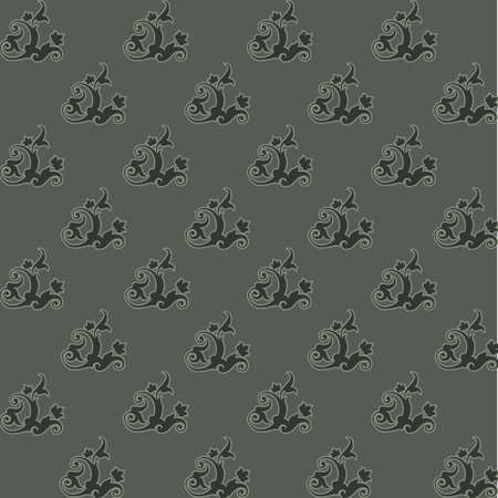 Luxury seamless charcoal gothic pattern photo