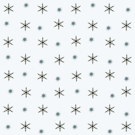 on a light background  different snowflakes Stock Photo - 15658189