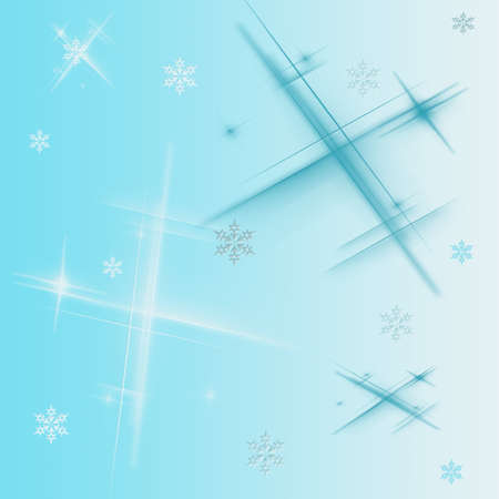 Blue abstract background with different snowflakes Stock Photo - 15781106