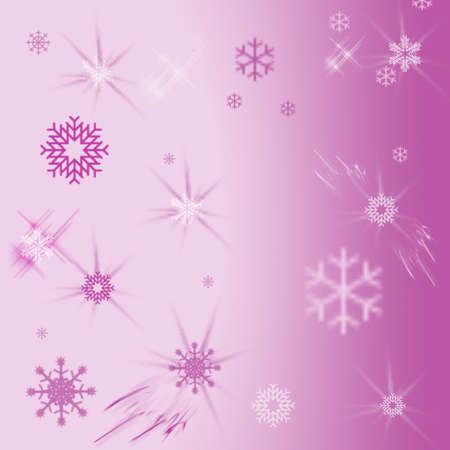 wallpapering: purple abstract background with different snowflakes