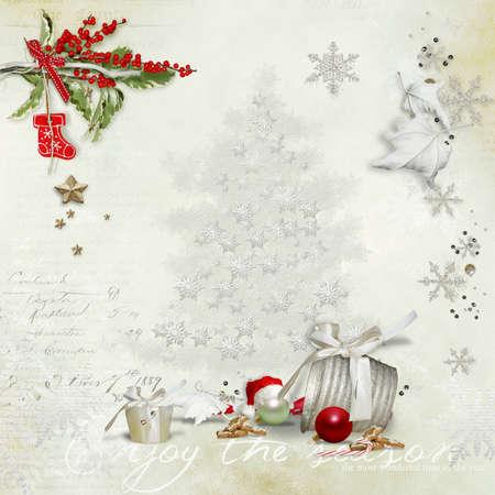 vintage Christmas greeting card Stock fotó - 16252162