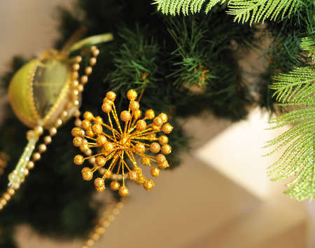 Christmas tree decorated with different beautiful toys Stock Photo - 16673481