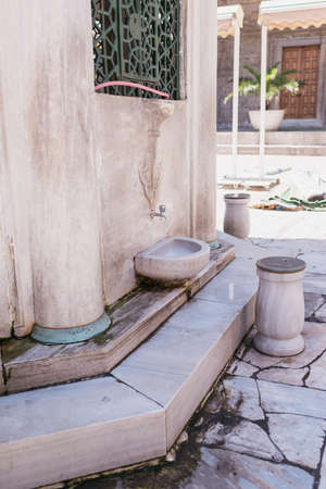the believer: place where Muslim believers cleaning their feet before entering the Mosque