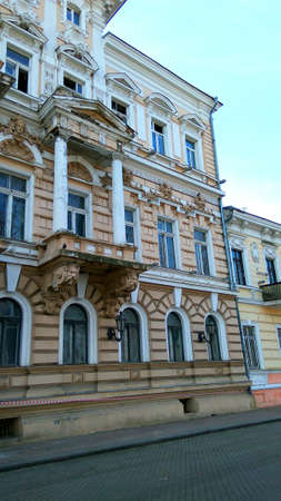 Old historical building in baroque style in emergency condition