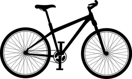 bicycle silhouette: bicycle silhouette Illustration