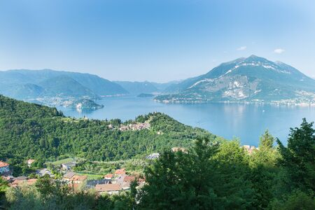 wikipedia: Panorama long the road that Rises from lake Como in Esino Lario (913 m), Italy, headquarters in 2016 (June 21 to 28) of the 12th International Wikimedia conference