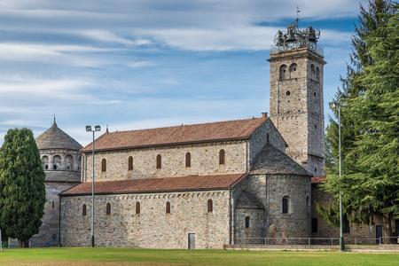 Historical church. Basilica S. Vittore (IX C.), Arsago Seprio, Italy