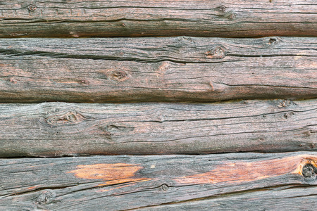 Larch wood logs, wooden texture. Background with natural patterns