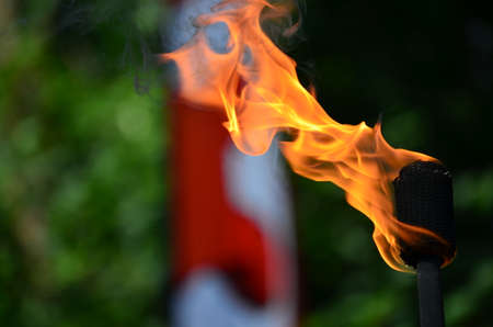 Juggling Fire Torch Stock Photo