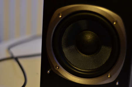 Close up of a Subwoofer Speaker from a Studio Monitor