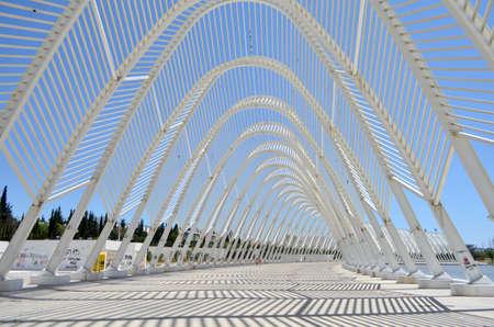 Architecture Pattern Details of Athens Olympic Stadium, Greece Redakční