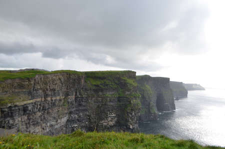 View Looking South over The Cliffs of Moher in County Clare, Ireland Stok Fotoğraf - 81102648