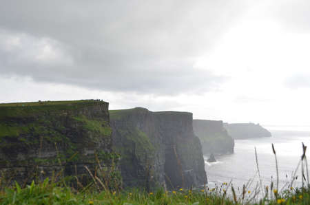 View Looking South over The Cliffs of Moher in County Clare, Ireland