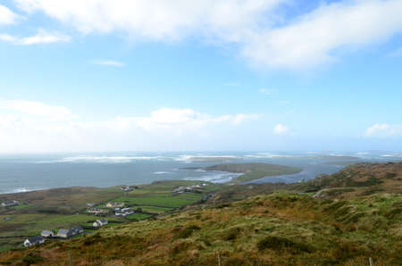 Cliff Coast and Sea View from Sky Road in Clifden, Ireland