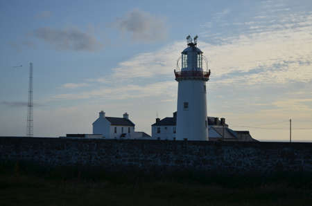 Loop Head Lighthouse and Lightkeeper's House in Clare, Ireland Editorial