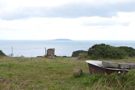 Bathtub in a Rural Field by the Sea Coast in Howth, Ireland