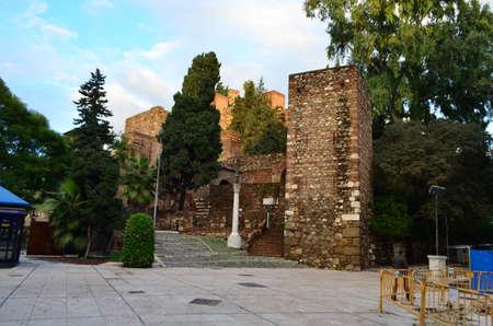 Entrance to Alcazaba of Málaga in Spain Stok Fotoğraf