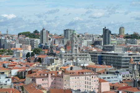 High City View from Cl�rigos Church Tower in Porto, Portugal