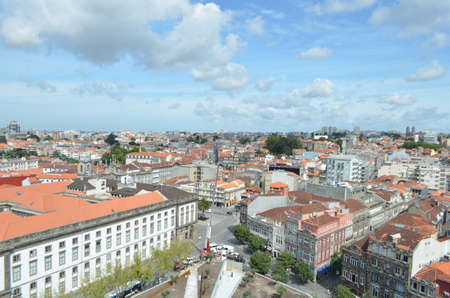 High City View from Clérigos Church Tower in Porto, Portugal