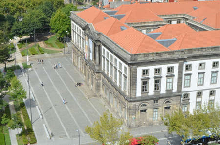 University of Porto Top View from Clérigos Church Tower in Porto, Portugal