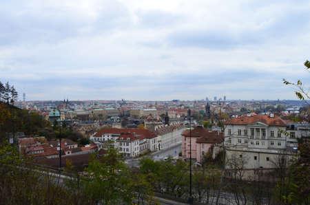 High City View from Letna Park in Prague, Czech Republic