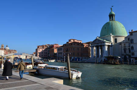 San Simeone Piccolo Church at The Grand Canal in Venice, Italy Editöryel