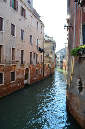 Portrait View of The Canal in Venice, Italy