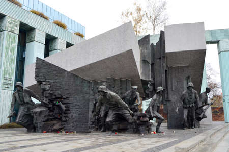 Warsaw Uprising Monument in Warsaw, Poland Editöryel
