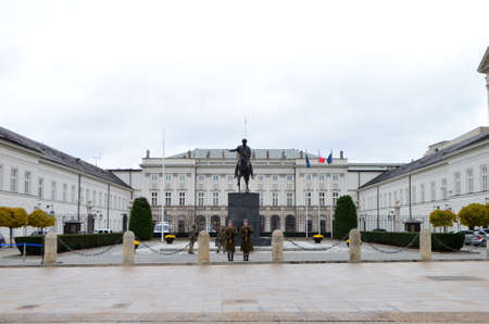 External View of Presidential Palace in Warsaw, Poland